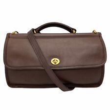 Vintage Coach 9153 Willis City Dark Brown Leather Crossbody Shoulder Bag Purse
