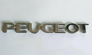Logo  arrière PEUGEOT 107 108 206 207 208  monogramme sigle emblème, lettrage