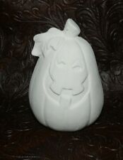Small Happy HALLOWEEN Pumpkin Ceramic Bisque  Ready to Paint Pottery