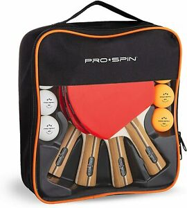 Pro Spin Pong Set Premium Tennis Bats Includes 4 Item Display Ping Best Superior
