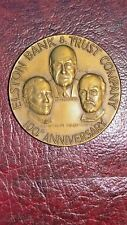 ELSTON BANK AND TRUST COMPANY 100TH  ANNIVERSARY MEDALLION: CRAWFORDSVILLE IND