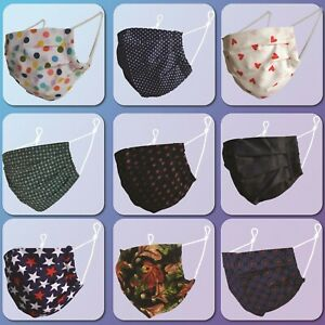 Face Mask Cotton Buy 2 Get 1 Free Double Layer Washable Reusable Face Covering