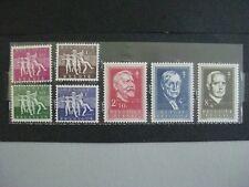timbres belges : 1955 antituberculeux COB n° 971 à 978 **