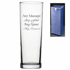 Personalised Engraved Tubo Hi Ball 10.5oz Glass - Gift Present