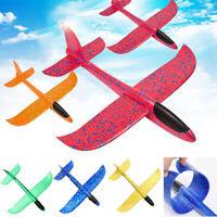 DIY Hand Launch Throw Flying Kids Toys Glider Planes Foam Aeroplane Model 48cm
