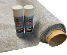4sqm Silver Stretchy Camper Van Lining Carpet Kit & 2 Trim Spray Adhesive