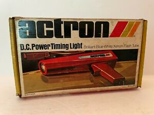 Actron DC Power Clamp-On Timing Light Model L-100 Vintage Tool With Box