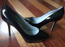 Sergio Rossi Scarpe Donna Black Leather Pump Italy size 41 - US true size 9.5/10