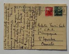 Repubblica Italiana Cartolina Postale Timbro Milano 1949 x Orvieto a Recluta