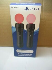 Sony Playstation PS4 Move Controllers - Twin Pack V2 - New