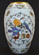 "Royal Porzellan Bavaria KPM Hand-painted Gold Gilt Rim Vase 9.25"" GORGEOUS"