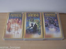 Star Wars Triology Set of 3 VHS Tapes Lucas Films CENTURY FOX - Portugal Version