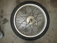 1976 Kawasaki Trials KT250 KT 250 front rim wheel hub tire 2.75-21 21in. 21 inch