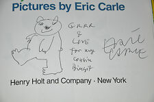 *SIGNED* WITH A ORIGINAL DRAWING~1ST/1ST EDITION~BABY BEAR, BABY BEAR~ERIC CARLE