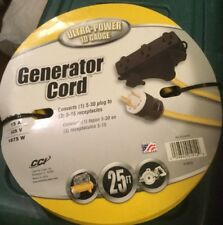 NEW Coleman Cable 01912 25' 10/3 Generator Power Cord