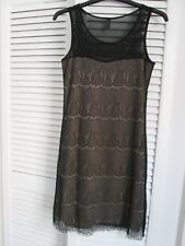 Black Lace Effect Sleeveless Fitted Dress From Vero Moda Size Small