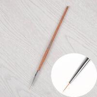 UV Gel Lang Pinsel Holz Nagel Kunst Linie Malen Nagel Design Werkzeug