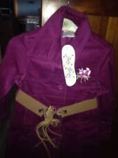 Jelly Beans Brand Girl Belted Button Up Jacket Size 3