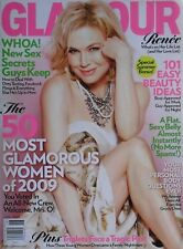 RENEE ZELLWEGER  June 2009 GLAMOUR Magazine THE 50 MOST GLAMOUROUS WOMEN OF 2009