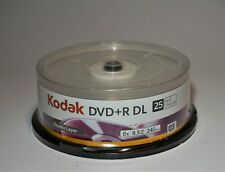 Kodak DVD+R DL Double Layer 8x 8.5 GB 240 Minutes 25 Pack NEW