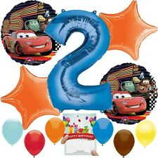 Cars Party Supplies Balloon Decoration Bundle for 2nd Birthday