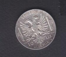 1939 Albania.Italy 10 Leke Silver coin 10 gr Rare. Italy. Occupation. 0.53