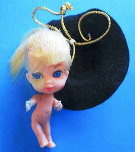 *** Vintage 1965 Hasbro Japan Calamity Liddle Kiddles Doll with Black Hat