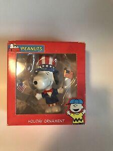 Peanuts Snoopy Patriotic Holiday Ornament