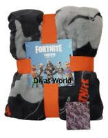 Fortnite Bed Throw Soft Fleece Blanket Home Decor Gift 120cm X 150cm New Primark