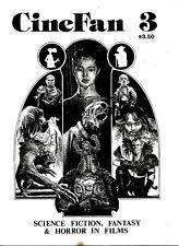 CINEFAN #3 1985 FANZINE Don Dohler  SEIZURE Mad Max HAMMER HORROR VFN CONDITION