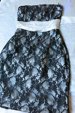 TEMT Laced Strapless Mini  Dress, Size 10 NEW with tags