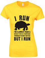 Turtle I Run, Ladies Printed T-Shirt