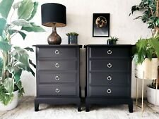 MADE TO ORDER - Black Stag Minstrel bedside tables / drawers