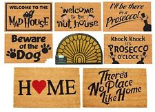 Personalised Door Mat Funny Custom Coir Wedding Home Gift House Warming 40x60cm