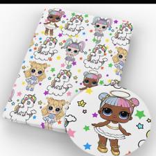 LOl Surprise Fabric Poly Cotton 1m x 1.45m pink dots