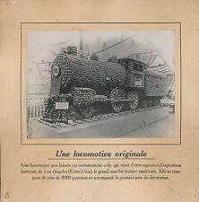PHOTO PRESSE c. 1910 - Locomotive Exposition Horticole Los Angeles  USA - 210