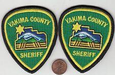 TWO (2) YAKIMA COUNTY SHERIFF HAT PATCHES WASHINGTON WA PATCH