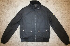 Barbour International TAIN Waxed Jacket in Black - UK Size 8 [3841] TO SELL