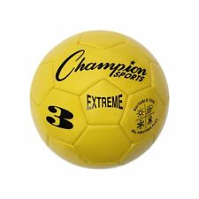 Champion Sports Extreme Soft Touch Butyl Bladder Soccer Ball, Size 3, Yellow