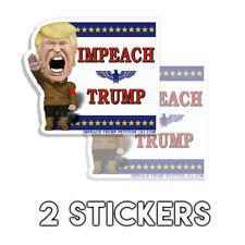"""Anti Trump Liberal """" Impeach Trump """" - Large Die Cut Decal Sticker 2 Pack D&"""