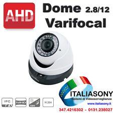 TELECAMERA DOME VARIFOCAL SONY AHD   Filtro Meccanico 2.8/12mm