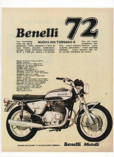 Pubblicità epoca 1972 BENELLI 650 TORNADO S MOTOR MOTO advert werbung reklame