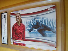 HOPE SOLO SOCCER 2012 TOPPS US OLYMPICS OLY-10 GRADED 10 L@@K