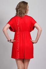Sensible Women's V-Neck Dress Tunic Style Wrap Kimono Sleeve Size 8-12 8051