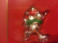 Lenox Skating Mickey Walt Disney Showcase Collection Silver Plated Ornament