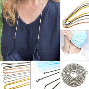 Face Mask Holder Lanyard Neck Chain Strap Cord String Necklace Retainer Adult UK