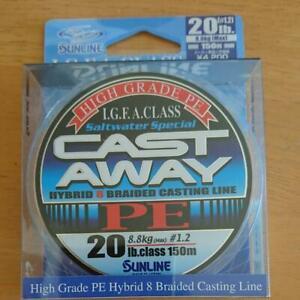 NEW Sunline Saltimate Castaway PE 150m 20lb/8.8kg Purple Blue 8 Braid Line Japan