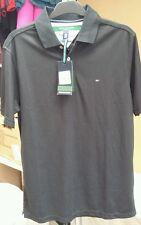 Tommy Hilfiger Golf TH-Tech Polo Camisa en Negro UE Tamaño S
