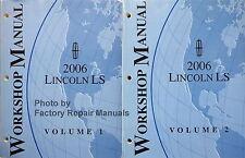 2006 Lincoln LS Factory Service Manual Set Original Ford Shop Repair