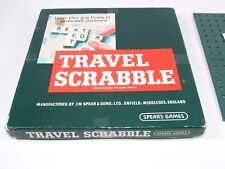 Spears Travel Scrabble Boxed And Complete Vintage